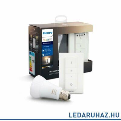 Philips Hue White Ambiance E27 LED + DimSwitch Light Recipe Kit, 2200-6500K, 8,5W, 806 lm, Bluetooth+Zigbee, 8718699673147