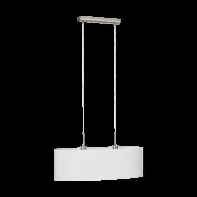 EGLO 31579 PASTERI Textil függesztett lámpa, 75cm, fehér, 2 db. E27 foglalattal + ajándék LED fényforrás