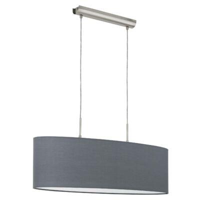 EGLO 31582 PASTERI Textil függesztett lámpa, 75cm, szürke, 2 db. E27 foglalattal + ajándék LED fényforrás