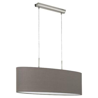 EGLO 31583 PASTERI Textil függesztett lámpa, 75cm, antracit, 2 db. E27 foglalattal + ajándék LED fényforrás