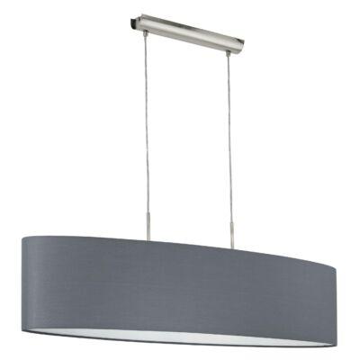 EGLO 31586 PASTERI Textil függesztett lámpa, 100cm, szürke, 2 db. E27 foglalattal + ajándék LED fényforrás