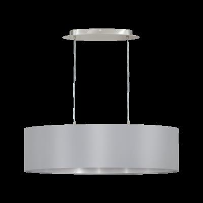 EGLO 31612 MASERLO Textil függesztett lámpa, 78cm, szürke 2 db. E27 foglalattal + ajándék LED fényforrás