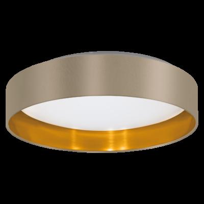 EGLO 31624 MASERLO Textil mennyezeti LED lámpa, 40,5cm, szürkésbarna, 16W, 3000K melegfehér, 1500lm