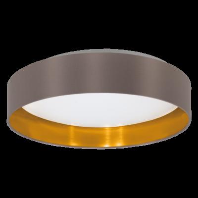 EGLO 31625 MASERLO Textil mennyezeti LED lámpa, 40,5cm, cappuccino, 16W, 3000K melegfehér, 1500lm