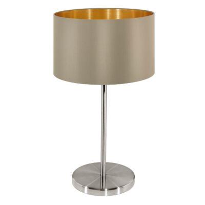 EGLO 31629 MASERLO Textil asztali lámpa, 23cm, szürkésbarna, E27 foglalattal + ajándék LED fényforrás