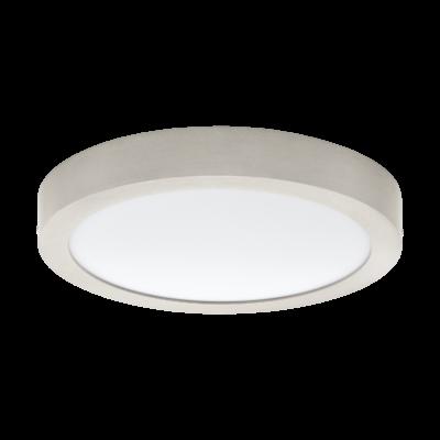 EGLO 32443 FUEVA 1 Falra szerelhető 24W, LED panel, kerek, 30cm átmérő, matt nikkel, 4000K természetes fehér