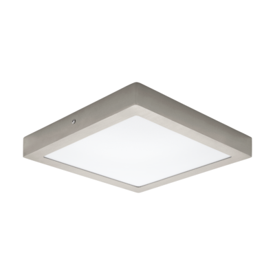 EGLO 32446 FUEVA 1 Falra szerelhető 24W, LED panel, négyzet, 30x30cm, matt nikkel, 4000K természetes fehér