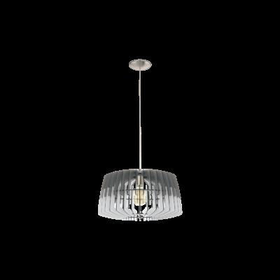 EGLO 32826 ARTANA Fa függesztett lámpa, 48cm, szürke/fehér, E27 foglalattal
