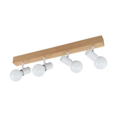 EGLO 33172 TOWNSHEND 3 fa/fehér fali/mennyezeti LED lámpa, 4 db. E27 foglalattal, 63cm hosszú, max. 4x10W + ajándék LED fényforrás