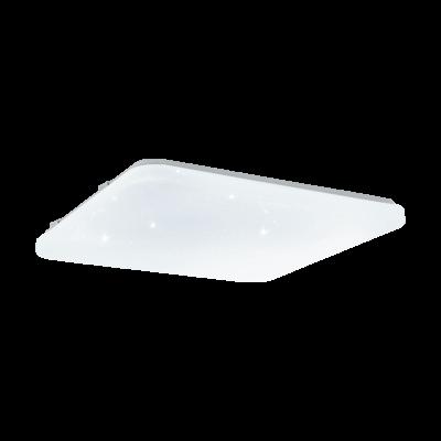 EGLO 33611 FRANIA-S mennyezeti LED lámpa, fehér, 49,5W, 5400lm, 3000-5000K változtatható fehér, 53x53cm, szögletes, kristály effekt