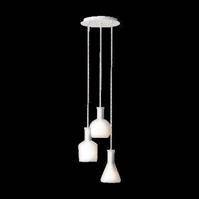 EGLO 39142 PASCOA függesztett lámpa, 35cm átmérő, fehér, 3 db. E27 foglalattal, max. 3x60W + ajándék LED fényforrás