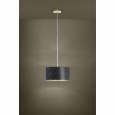 EGLO 39224 DOLORITA függesztett lámpa, 50cm átmérő, fekete/arany, 3 db. E27 foglalattal, 3x60W + ajándék LED fényforrás