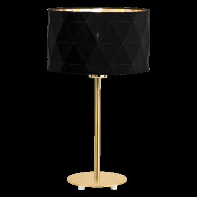 EGLO 39227 DOLORITA asztali lámpa, 45,4cm magas, fekete/arany, 1 db. E27 foglalattal, 1x60W + ajándék LED fényforrás