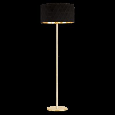 EGLO 39228 DOLORITA állólámpa, 162cm magas, fekete/arany, 3 db. E27 foglalattal, 3x60W + ajándék LED fényforrás