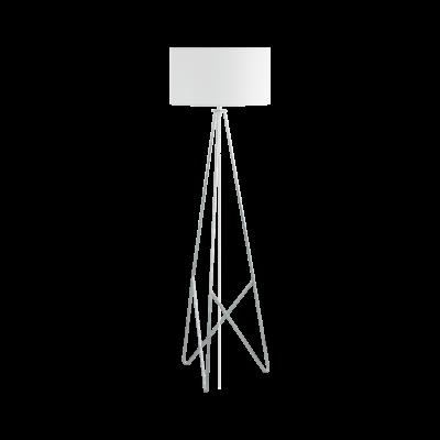 EGLO 39232 CAMPORALE állólámpa, 154cm magas, fehér/króm, 1 db. E27 foglalattal, 1x60W + ajándék Access távirányítós(11807) LED fényforrás