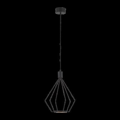 EGLO 39321 CADOS függesztett LED lámpa, 33,5cm átmérő, fekete, beépített LED, 8,7W, 3000K melegfehérfehér, 970lm