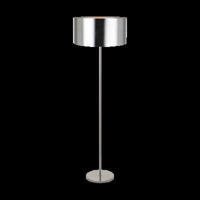 EGLO 39354 SAGANTO állólámpa, 166,5cm magas, matt nikkel/ezüst, 1 db. E27 foglalattal, 1x60W,  + ajándék Access távirányítós(11807) LED fényforrás