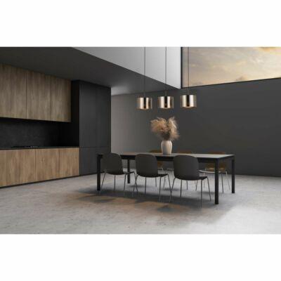 EGLO 39357 SAGANTO 1 függesztett lámpa, 110cm magas, barna/réz, 3 db. E27 foglalattal, 3x60W + ajándék LED fényforrás