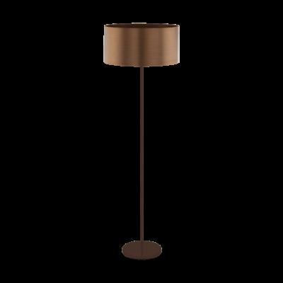 EGLO 39358 SAGANTO 1 állólámpa, 166,5cm magas, barna/réz, 1 db. E27 foglalattal, 1x60W + ajándék Access távirányítós(11807) LED fényforrás