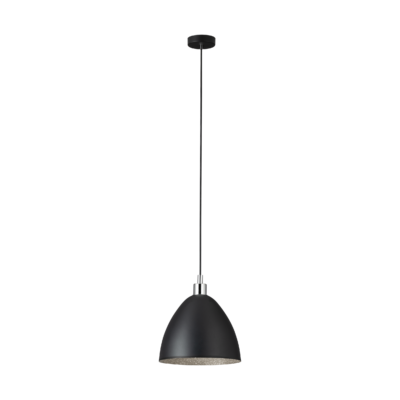 EGLO 39488 MAREPERLA függesztett lámpa, 27,5cm átmérő, fekete, 1 db. E27 foglalattal, max. 1x60W + ajándék LED fényforrás