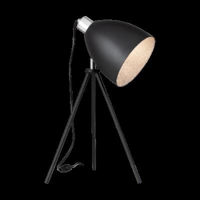 EGLO 39498 MAREPERLA asztali lámpa, 52cm magas, fekete, 1 db. E27 foglalattal, max. 1x60W