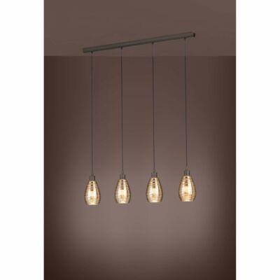 EGLO 39507 SIRACUSA függesztett lámpa, 113cm hosszú, barna, 4 db. E27 foglalattal, max. 4x60W + ajándék LED fényforrás