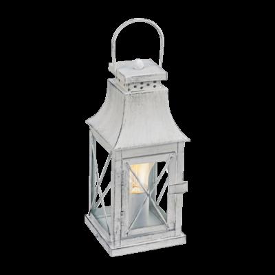 EGLO 49294 LISBURN Vintage asztali lámpa, 12x29,5cm, szürke-patina/üveg, E27 foglalattal + ajándék LED fényforrás