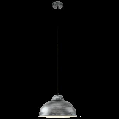 EGLO 49389 TRURO 2 Vintage függeszték, 37cm, antik ezüst, E27 foglalattal + ajándék LED fényforrás