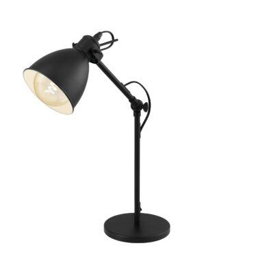 EGLO 49469 PRIDDY Vintage asztali lámpa, 15,5x42,5cm, fekete, E27 foglalattal + ajándék LED fényforrás