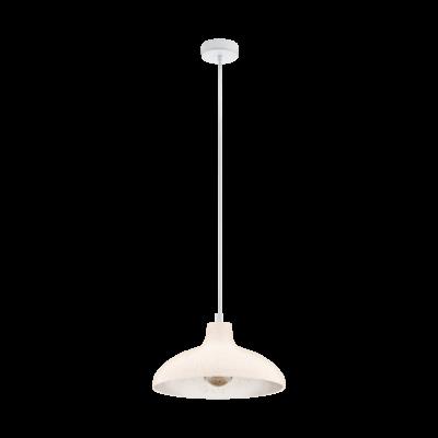 EGLO 49485 BARROWBY Vintage függesztett lámpa, 35,5cm átmérő, terrakotta, E27 foglalattal, max. 1x60W