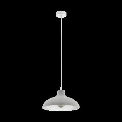 EGLO 49486 BARROWBY Vintage függesztett lámpa, 35,5cm átmérő, szürke, E27 foglalattal, max. 1x60W