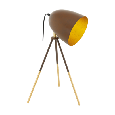 EGLO 49518 CHESTER 1 Vintage acél asztali lámpa, 44cm, rozsda/arany, E27 foglalattal, max. 1x60W + ajándék LED fényforrás