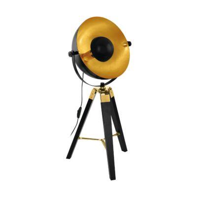 EGLO 49617 COVALEDA Vintage állólámpa, 38x73,5cm, fekete/réz, E27 foglalattal + ajándék Access távirányítós(11807) LED fényforrás
