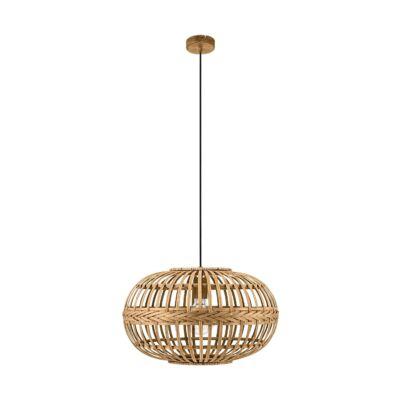 EGLO 49771 AMSFIELD Vintage függesztett lámpa, 38cm, bambusz, E27 foglalattal + ajándék LED fényforrás