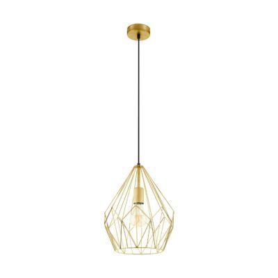 EGLO 49933 CARLTON Vintage függesztett lámpa, 31cm, arany, E27 foglalattal + ajándék LED fényforrás