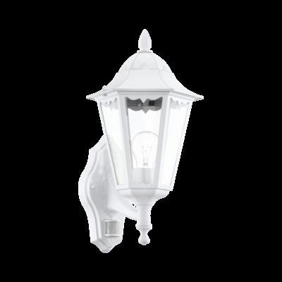 EGLO 93447 NAVEDO kültéri fali lámpa, mozgásérzékelővel, fehér + ajándék LED fényforrás