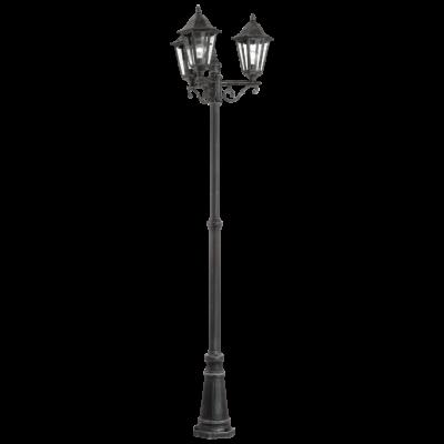 EGLO 93465 NAVEDO kültéri állólámpa, fekete, ezüst-patina + ajándék LED fényforrás