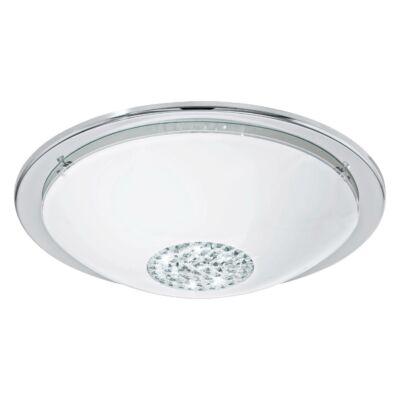 EGLO 93778 GIOLINA Króm/fehér LED mennyezeti lámpa, 37cm átmérő, 16W, 3000K melegfehér, 1500lm