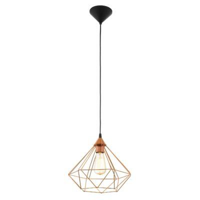 EGLO 94194 TARBES Vintage függesztett lámpa, 32,5cm, réz, E27 foglalattal + ajándék LED fényforrás