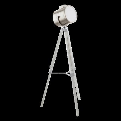 EGLO 94371 UPSTREET Vintage állítható magasságú állólámpa, átmérő: 70cm, fehér fa/matt nikkel, E27 foglalattal + ajándék LED fényforrás