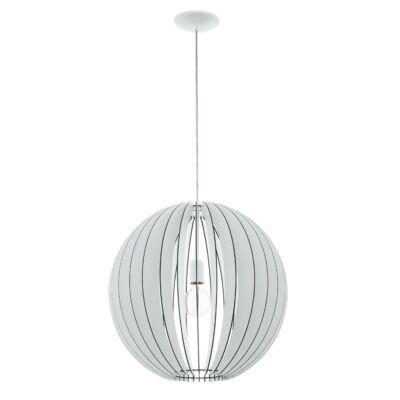 EGLO 94439 COSSANO Fa függesztett lámpa, 50cm, fehér, E27 foglalattal + ajándék LED fényforrás