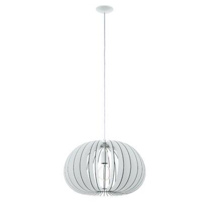 EGLO 94442 COSSANO Fa függesztett lámpa, 45cm, fehér, E27 foglalattal + ajándék LED fényforrás