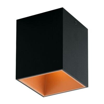 EGLO 94496 POLASSO Fekete/réz szögletes LED mennyezeti lámpa, 10x10x12cm, 1x3,3W
