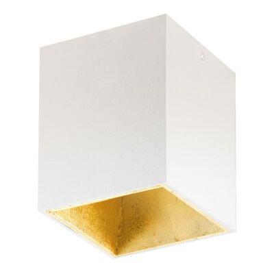 EGLO 94498 POLASSO Fehér/arany szögletes LED mennyezeti lámpa, 10x10x12cm, 1x3,3W