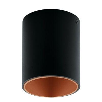 EGLO 94501 POLASSO Fekete/réz kerek LED mennyezeti lámpa, 10cm átmérő, 12cm, 1x3,3W