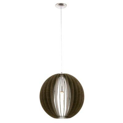 EGLO 94636 COSSANO Fa függesztett lámpa, 50cm, barna, E27 foglalattal + ajándék LED fényforrás