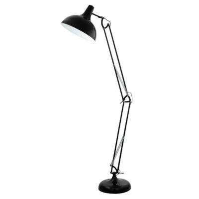 EGLO 94698 BORGILLIO fekete, asztali lámpa, 34x190cm, állítható magasság, E27 foglalattal, 60W + ajándék LED fényforrás