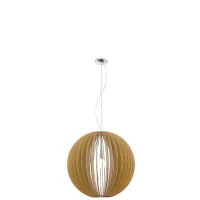 EGLO 94766 COSSANO Fa függesztett lámpa, 70cm, juhar, E27 foglalattal + ajándék LED fényforrás