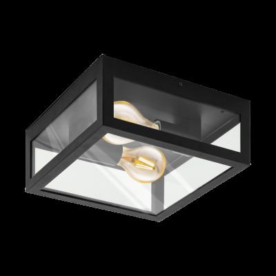 EGLO 94832 ALAMONTE 1 kültéri fali/mennyezeti lámpa, fekete