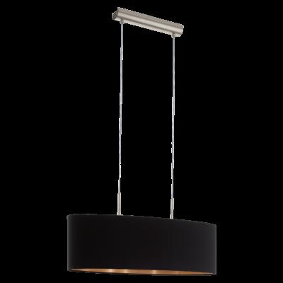 EGLO 94915 PASTERI Textil függesztett lámpa, 75cm, fekete/réz, 2 db. E27 foglalattal + ajándék LED fényforrás